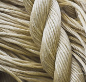 Various ropes showing their texture Royalty Free Stock Image