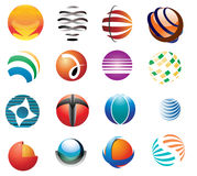 Various round logos. Various collection of round logos Stock Images