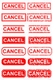 Various Rubber Stamp Effect : Cancel. Vector Various Rubber Stamp Effect : Cancel at white background royalty free illustration