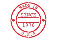 Various Rubber Stamp Made in USA. Series of Various Rubber Stamp Made in USA Since 1970 Royalty Free Stock Images
