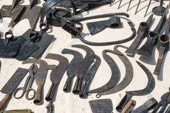 Various rusted vintage metal tools Stock Photography