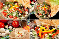 Various salads Stock Photos