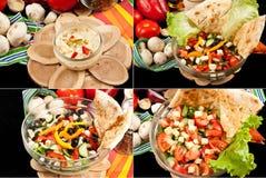 Various salads Stock Images