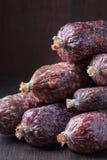 Various salami sausages Stock Images