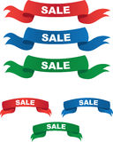 Various Sale Banners Stock Images