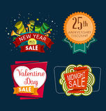 Various sale event tittle Stock Photography