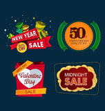 Various sale event tittle Stock Images