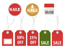 Various sale tags. For discounts Royalty Free Stock Images