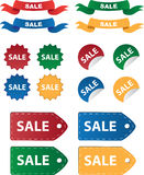 Various Sale Tags Royalty Free Stock Photography