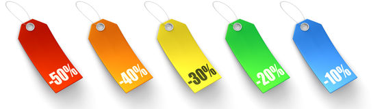 Various Sales Price tags Stock Photos