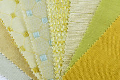 Various samples of fabric choice Royalty Free Stock Images