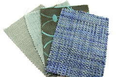 Various samples of fabric choice Royalty Free Stock Photo