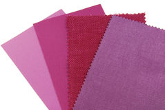 various samples of fabric choice Royalty Free Stock Photos