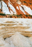 various sands on slope of sandstone mountain Royalty Free Stock Image