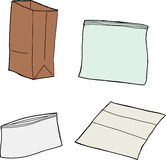 Various Sandwich Bags royalty free illustration