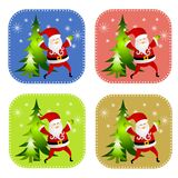 Various Santa Claus Backgrounds Royalty Free Stock Photos