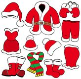 Various Santa Claus clothes Royalty Free Stock Photography