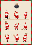 Various Santa Claus expression Stock Image