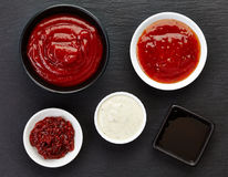 Various sauces Stock Images
