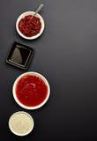 Various sauces Stock Photos