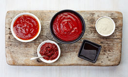 Various sauces Royalty Free Stock Image