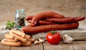 Various sausages Stock Photos