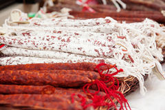Various sausages Royalty Free Stock Images