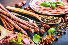 Various sausages Stock Photography