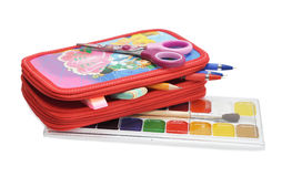 Various school  accessories Stock Photos
