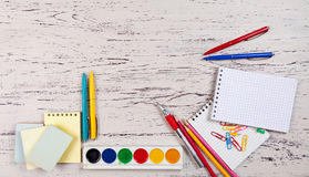 Various school items Royalty Free Stock Images