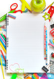 Various school supplies Stock Image