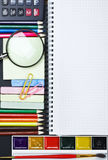 Various school supplies Stock Photography