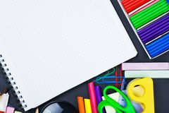 various school supplies Royalty Free Stock Image