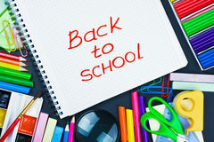 various school supplies Stock Photos