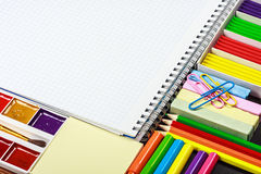 Various school supplies Royalty Free Stock Images
