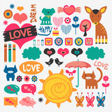 Various scrapbook elements set Stock Photography