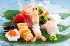 Various Seafood plate Stock Image