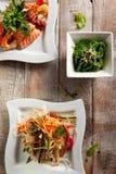 Various Seafood Salad Stock Images