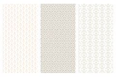 3 various seamless pattern in retro style. Isolated on white Stock Photo