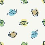 Various seashells. On light background Stock Image