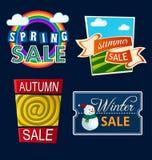 Various seasonal sale event tittle Stock Image