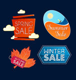 Various seasonal sale event tittle Stock Photo