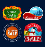 Various seasonal sale event tittle Royalty Free Stock Photo