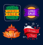 Various seasonal sale event tittle Stock Images