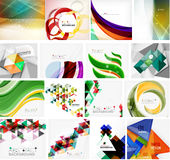 Various set of geometric abstract backgrounds Royalty Free Stock Photo