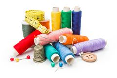 Various sewing accessories Royalty Free Stock Images