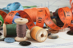 Various sewing accessories Stock Image