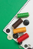 Various sewing accessories Stock Images