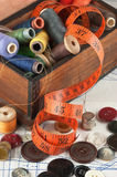 various sewing accessories Royalty Free Stock Photography
