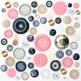 Various sewing button  Stock Images